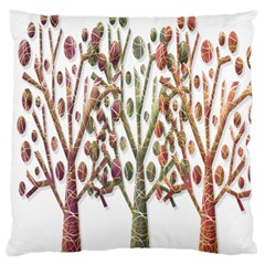 Magical autumn trees Large Cushion Case (One Side)