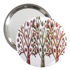 Magical autumn trees 3  Handbag Mirrors