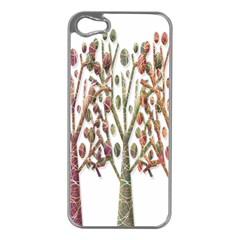 Magical autumn trees Apple iPhone 5 Case (Silver)
