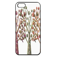 Magical autumn trees Apple iPhone 5 Seamless Case (Black)