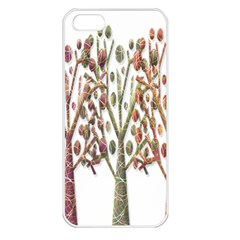 Magical autumn trees Apple iPhone 5 Seamless Case (White)
