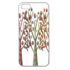Magical autumn trees Apple Seamless iPhone 5 Case (Clear)