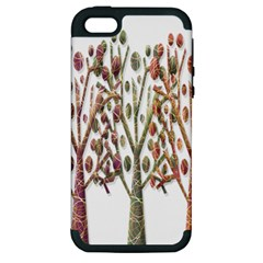 Magical autumn trees Apple iPhone 5 Hardshell Case (PC+Silicone)