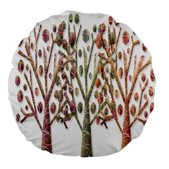 Magical autumn trees Large 18  Premium Round Cushions