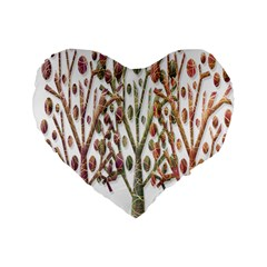 Magical autumn trees Standard 16  Premium Heart Shape Cushions