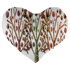 Magical autumn trees Large 19  Premium Heart Shape Cushions