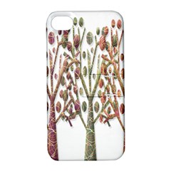 Magical autumn trees Apple iPhone 4/4S Hardshell Case with Stand