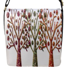Magical autumn trees Flap Messenger Bag (S)