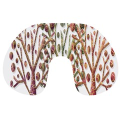Magical autumn trees Travel Neck Pillows