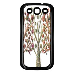 Magical autumn trees Samsung Galaxy S3 Back Case (Black)
