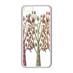 Magical autumn trees Apple iPhone 5C Seamless Case (White)