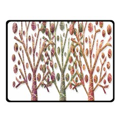 Magical autumn trees Double Sided Fleece Blanket (Small)