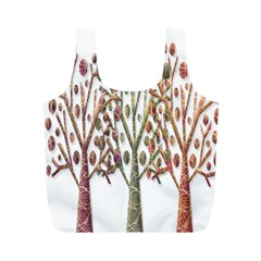 Magical autumn trees Full Print Recycle Bags (M)