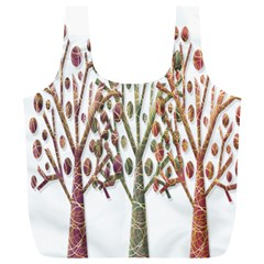 Magical autumn trees Full Print Recycle Bags (L)
