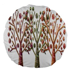 Magical autumn trees Large 18  Premium Flano Round Cushions