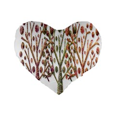 Magical autumn trees Standard 16  Premium Flano Heart Shape Cushions