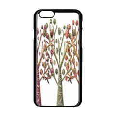 Magical autumn trees Apple iPhone 6/6S Black Enamel Case