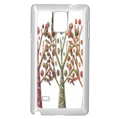 Magical autumn trees Samsung Galaxy Note 4 Case (White)