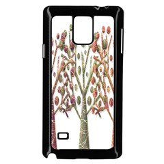 Magical autumn trees Samsung Galaxy Note 4 Case (Black)