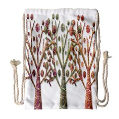 Magical autumn trees Drawstring Bag (Large)