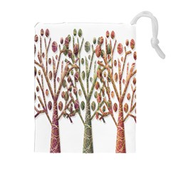 Magical autumn trees Drawstring Pouches (Extra Large)