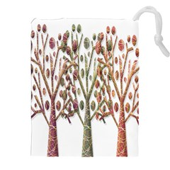 Magical autumn trees Drawstring Pouches (XXL)