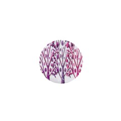 Magical pink trees 1  Mini Buttons