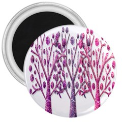 Magical pink trees 3  Magnets