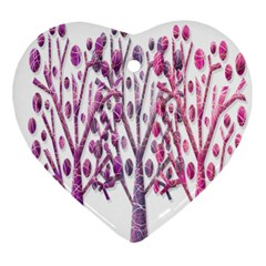 Magical pink trees Ornament (Heart)