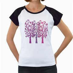 Magical pink trees Women s Cap Sleeve T
