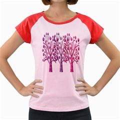 Magical pink trees Women s Cap Sleeve T-Shirt