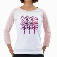 Magical pink trees Girly Raglans
