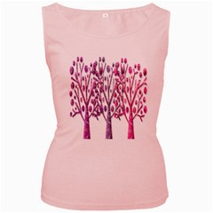 Magical pink trees Women s Pink Tank Top