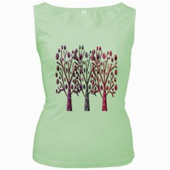 Magical pink trees Women s Green Tank Top