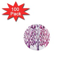 Magical pink trees 1  Mini Buttons (100 pack)