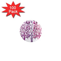 Magical pink trees 1  Mini Magnets (100 pack)