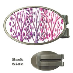Magical pink trees Money Clips (Oval)