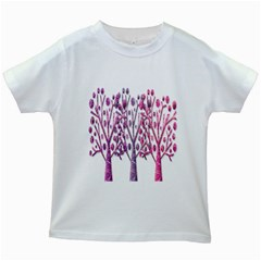 Magical pink trees Kids White T-Shirts