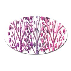 Magical pink trees Oval Magnet