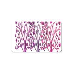 Magical pink trees Magnet (Name Card)