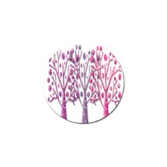 Magical pink trees Golf Ball Marker (4 pack)