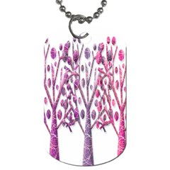 Magical pink trees Dog Tag (Two Sides)