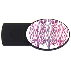Magical pink trees USB Flash Drive Oval (1 GB)