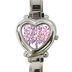 Magical pink trees Heart Italian Charm Watch