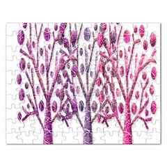 Magical pink trees Rectangular Jigsaw Puzzl