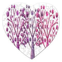 Magical pink trees Jigsaw Puzzle (Heart)