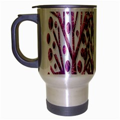 Magical pink trees Travel Mug (Silver Gray)