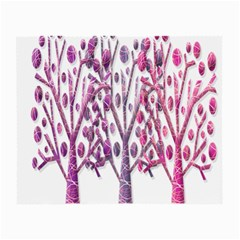 Magical pink trees Small Glasses Cloth