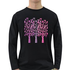 Magical pink trees Long Sleeve Dark T-Shirts