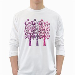 Magical pink trees White Long Sleeve T-Shirts